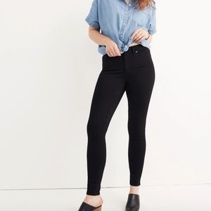 "Madewell etall 9"" high skinny jeans in isko black"